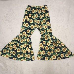 4T Toddler Sunflower Hippie Bell Bottom Pants 🌻